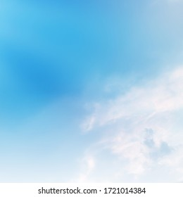 blue sky with white cloud. The summer sky is colorful clearing day and beautiful nature in the morning. - Shutterstock ID 1721014384