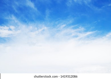 Blue sky with the white clouds