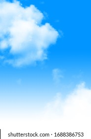 Blue Sky with White Clouds - Shutterstock ID 1688386753