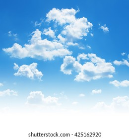 Blue sky with white clouds. - Shutterstock ID 425162920