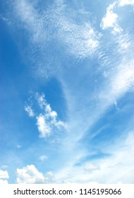 Blue sky white clouds Abstract nature background