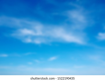 blue sky and white clouds abstract blur beautiful background and wallpaper.