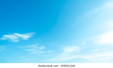 Blue sky and white clouds backdrop in the air panorama abstract style. - Shutterstock ID 1935011342