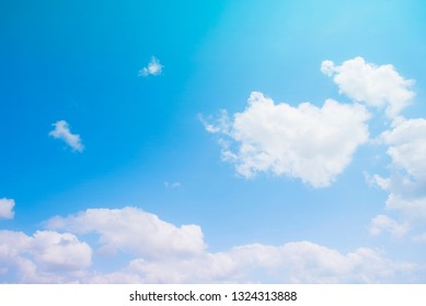 blue sky and white clouds . Clouds floating in the sky.