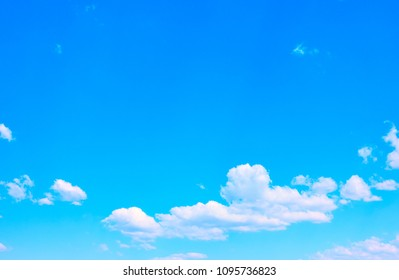 Blue sky with white clouds, may be used as background. Big space for text