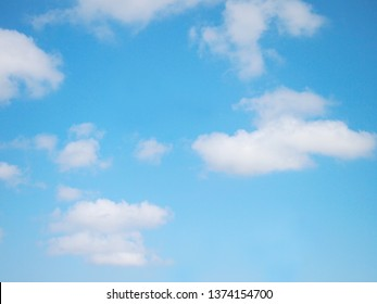 Blue sky with white clouds in the morning for natural background concept.