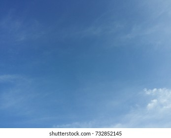 Blue sky and white clouds as natural background