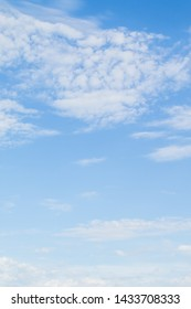 Blue sky with white clouds, nature sky landscape.