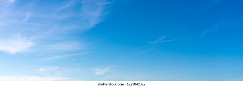 Blue sky and white clouds panorama