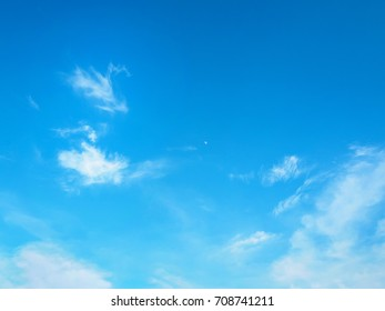 Blue sky with white clouds.Sky in summer.