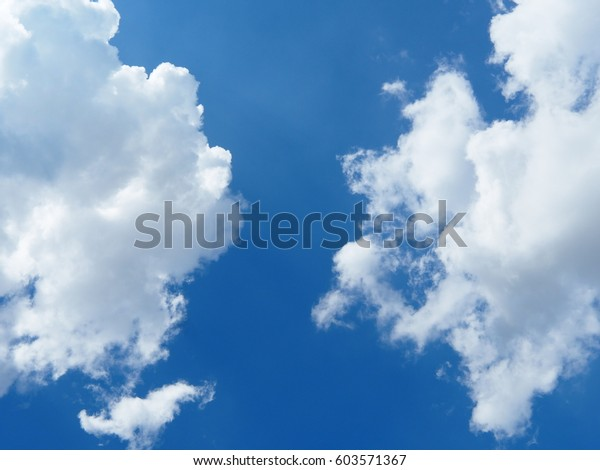 Blue Sky White Clouds Sunny Day Stock Photo Edit Now 603571367