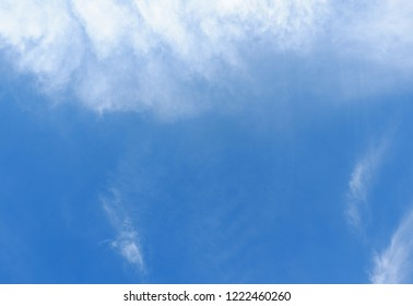 Blue sky and white clound Background.