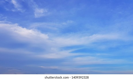 blue sky with white clound in a holiday