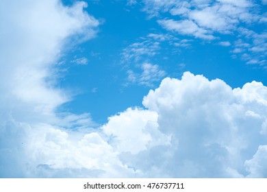blue sky and white could background
