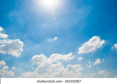 Blue sky with white coulds background
