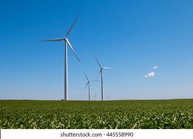 Blue Sky Windmills