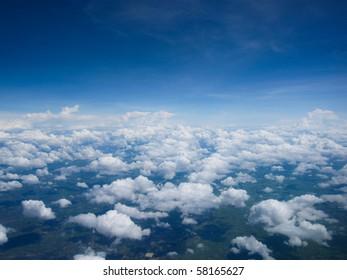 Blue sky,white clouds