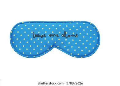 Blue Sleep mask with small yellow polka dots