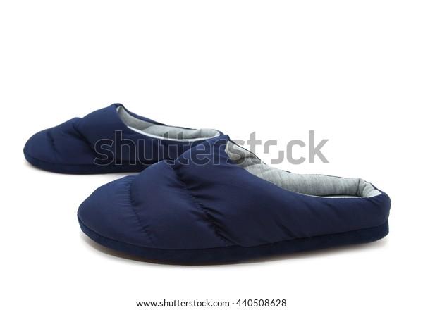 Blue slipper isolated on white