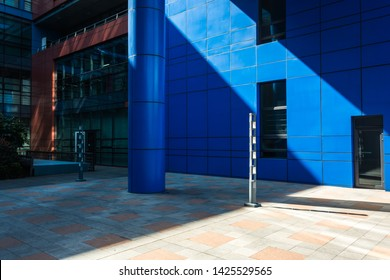 Blue Small commercial retail building