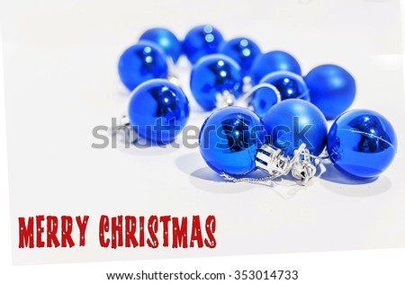 Blue Small Decorative Christmas Balls On Stock Photo Edit Now Amazing Small Decorative Balls