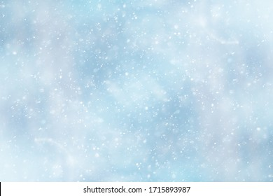 blue snowfall bokeh background, abstract snowflake background on blurred abstract blue - Shutterstock ID 1715893987
