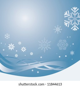 Blue Snowy Background