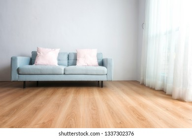 Blue sofa background at home