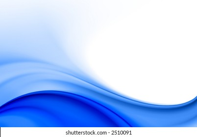 blue soft color wave abstract background. Suitable for brochures, flyers, abstract business cards design as background with space for text
