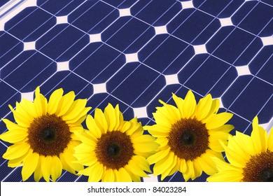 blue solar pane