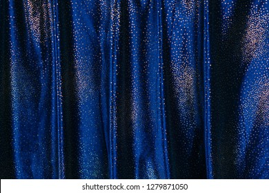 Blue and sparkling curtain
