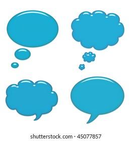 Blue speech bubbles background