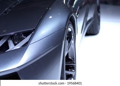 A Blue Sport Design Car