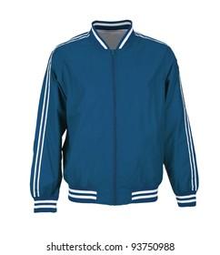 blue sport jacket isolated on white background