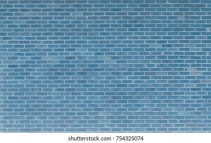 Blue Square brick block wall background and texture