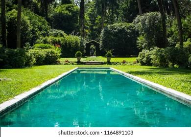 Blue square pond