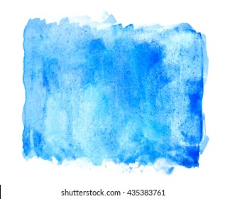 Blue square rough water color texture background for copy space