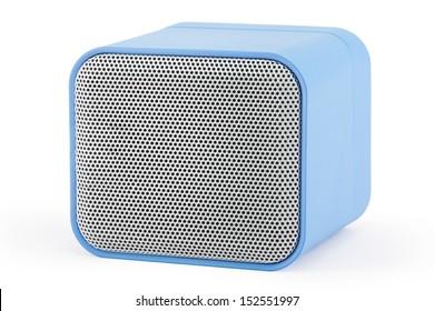 Blue square speaker