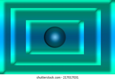blue squares with a bubble in the center
