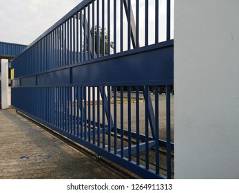 Blue stainless steel gate