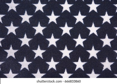 Blue star field on United States flag.