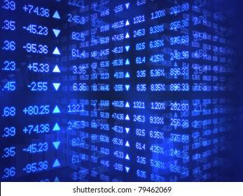 Blue Stock Ticker Zig Zag