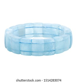 Blue stone bracelet on a white background