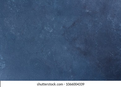 Blue Stone concrete surface. Texture dark slate background. Copy space