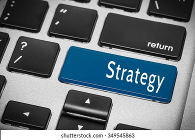 Blue strategy button on the keyboard