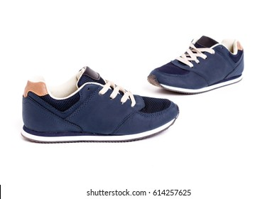 blue street shoes - isolated on white background