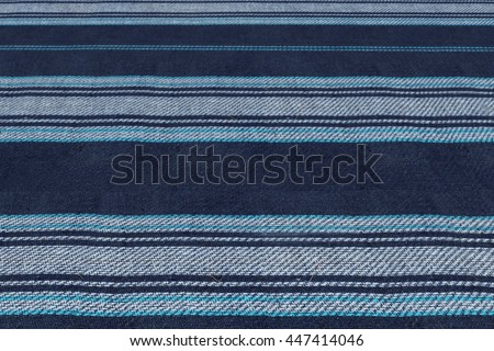 ... Blue striped woolen blanket texture. Nature and summer holidays  background. Outdoor family travel and  White ... c0d4e999d
