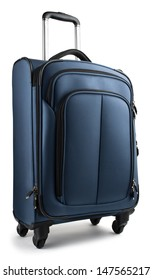 Blue Suitcase isolated on a white background