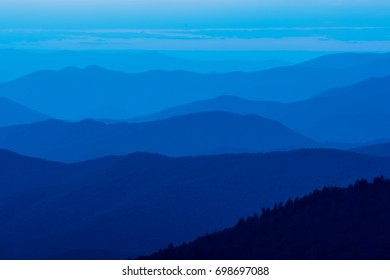 Blue Sunset in Great Smoky Mountains National Park