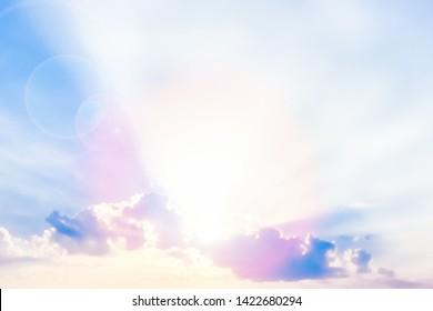 blue sunset sky reflection background